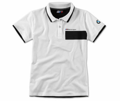 Женская рубашка-поло BMW M Motorsport Polo Shirt, Ladies, Black/White