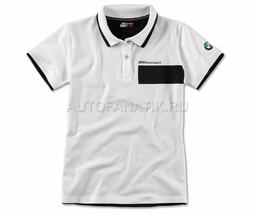 c820906b098df Женская рубашка-поло BMW M Motorsport Polo Shirt, Ladies, Black/White