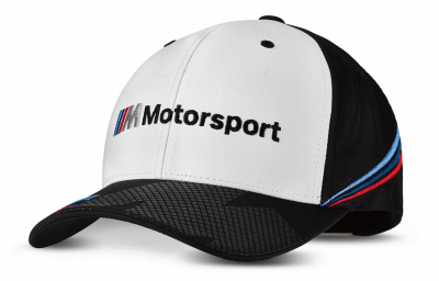 Бейсболка BMW Motorsport Collectors Cap, Unisex, White/Black