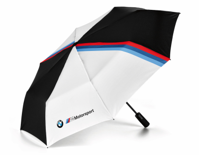 Складной зонт BMW M Motorsport Folding Umbrella, Black/White