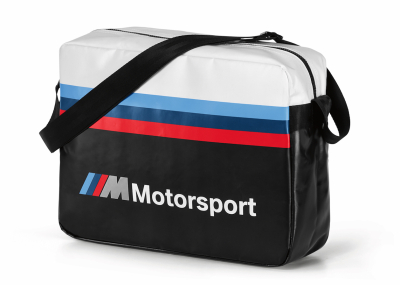 Городская сумка BMW M Motorsport Messenger Bag, Black/White