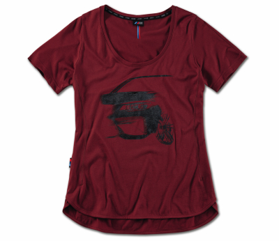 Женская футболка BMW M Graphic T-Shirt, Ladies, Burgundy