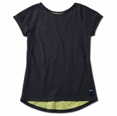 Женская футболка BMW Active T-Shirt, Ladies, Blue Nights / Wild Lime