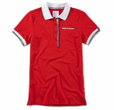 Женская рубашка-поло BMW Golfsport Polo Shirt, Ladies, Red/White