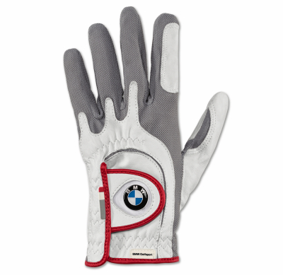 Левая женская перчатка BMW Left Glove, Golfsport, Ladies, White/Grey