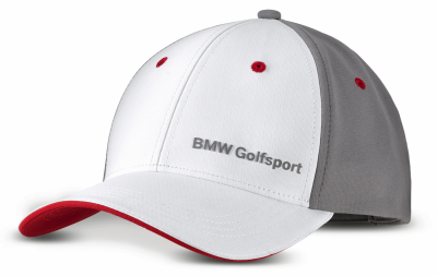 Бейсболка BMW Golfsport Cap, Unisex, White/Grey/Red
