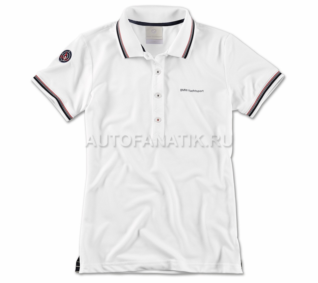 e71216f7f3666 Женская рубашка-поло BMW Yachtsport Polo Shirt, Ladies, White