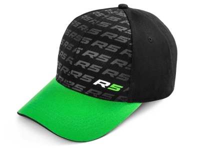 Детская бейсболка Skoda Kids Baseball Cap Motorsport R5, Green/Black