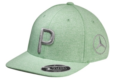 Детская бейсболка Mercedes Children's Golf Cap, Flat Brim, Green, by PUMA