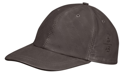 Кожаная кепка Mercedes Leather Cap, Dark Brown, Heinz Bauer Manufacture