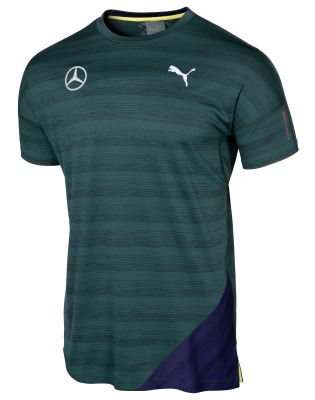 Мужская футболка Mercedes Men's Performance Shirt, Green, by PUMA