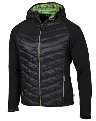 Мужская куртка Mercedes-AMG Men's Hybrid Jacket, black / green
