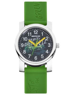 Детские наручные часы Mercedes-AMG GT Child's Watch, green / yellow / silver