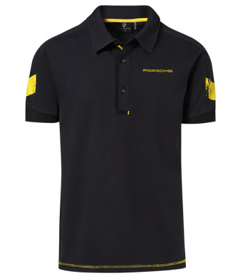 Мужская рубашка-поло Porsche Polo Shirt – GT4 Clubsport, Men, Black/Yellow