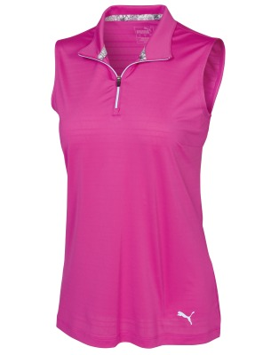 Женский топ Mercedes Women's Golf Top, Fuchsia