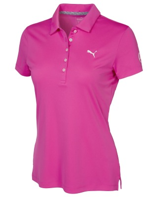 Женская рубашка-поло Mercedes Women's Golf Polo Shirt, Fuchsia