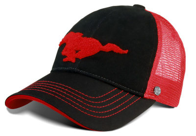 Бейсболка Ford Mustang Baseball Cap -Trucker Style-, Black/Red