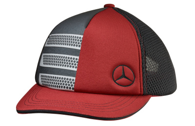 Детская бейсболка Mercedes-Benz Kids Cap Trucker Style, Black/Grey/Red