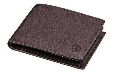 Кожаный кошелек Mercedes-Benz Leather Wallet, Classic, RFID protection, Brown