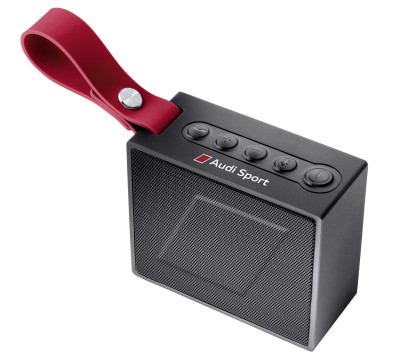 Динамик Audi Sport Bluetooth Speaker, black/red