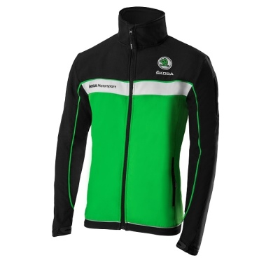 Мужская куртка Skoda Men´s Softshell Jacket, Motorsport, Green/Black