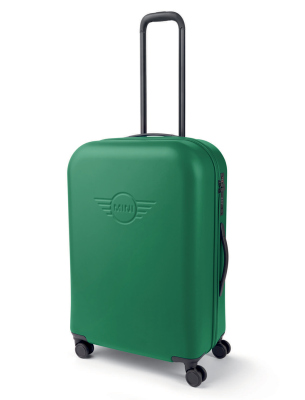 Туристический чемодан MINI Trolley Wing Logo Debossed, British Green