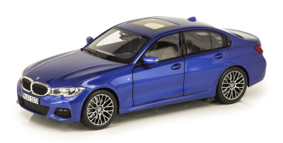 Модель автомобиля BMW 3 Series (mod.G20), Portimao Blue, 1:18 Scale