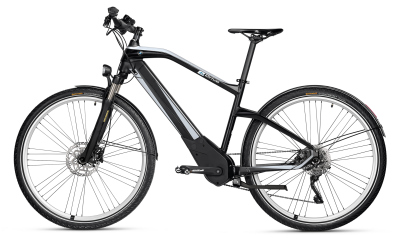 Электровелосипед BMW Active Hybrid E-bike, AL6061-T6, Frozen Black/Arctic Silver