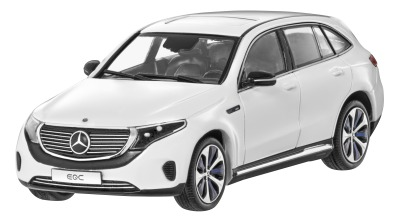 Модель автомобиля Mercedes-Benz EQC 400 4Matic (N293), Silver, Scale 1:43