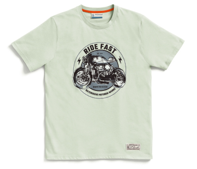 Мужская футболка BMW Motorrad T-Shirt Ride Fast, Men, Light Grey