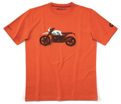 Футболка унисекс BMW Motorrad T-shirt Unisex, R nineT Urban GS, Orange