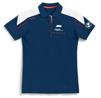 Женская рубашка-поло BMW Motorrad Motorsport Polo-shirt, for Ladies, Blue/White