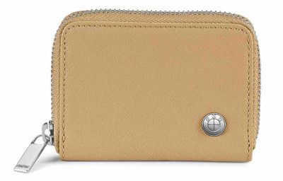 Кожаный кошелек BMW Leather Wallet, Small, Sand/Orange