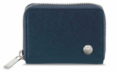 Кожаный кошелек BMW Leather Wallet, Small, Blue