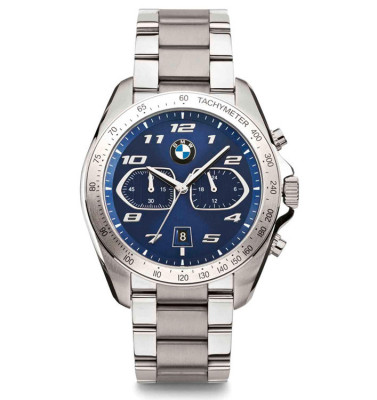 Мужской хронограф BMW Sport Chrono Watch, Men, Silver/Blue