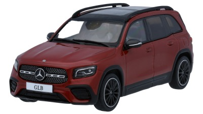 Модель автомобиля Mercedes-Benz GLB (X247), Designo Patagonia Red, Scale 1:43