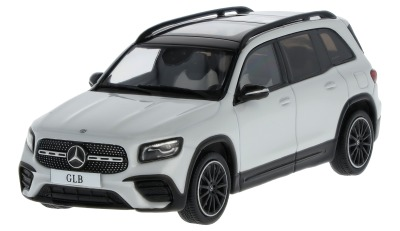 Модель автомобиля Mercedes-Benz GLB (X247), Digital White, Scale 1:43