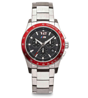 Хронограф BMW M Logo Chronograph, Men, Silver/Red