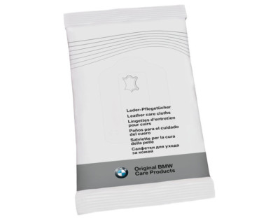 Салфетки для ухода за кожей BMW Genuine Car Interior Leather Cleaning Care Cloths 10-Pack