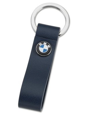 Кожаный брелок BMW Logo Leather Key Ring, Blue