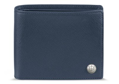 Кожаное портмоне BMW Fashion Wallet with Coin Compartment, Blue