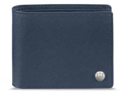 Кожаное портмоне BMW Fashion Wallet without Coin Compartment, Blue