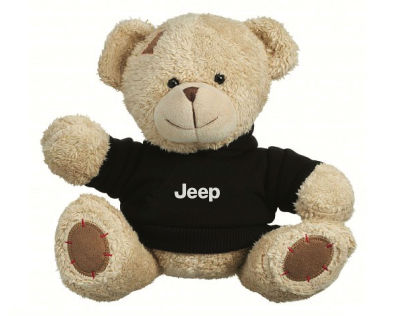 Плюшевый мишка Jeep Plush Toy Teddy Bear, Beige/Black