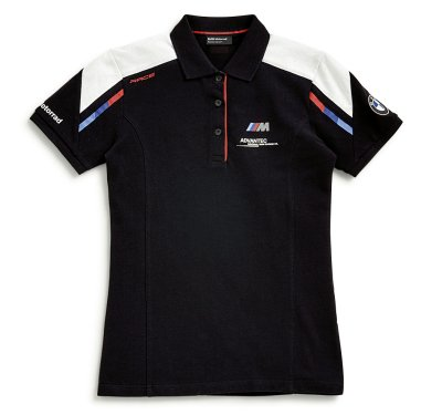 Женская рубашка-поло BMW Motorrad M Motorsport Polo-shirt, for Ladies, Black/Blue/White/Red