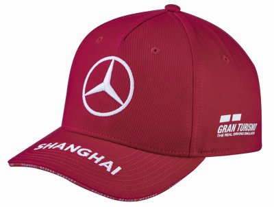 Детская бейсболка Mercedes F1 Kids Cap Lewis Hamilton, Special Edition China 2019, Red