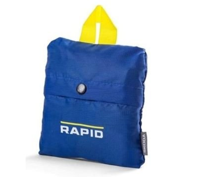 Складная сумка для покупок Skoda Rapid Packable Shopping Bag, Blue/Yellow