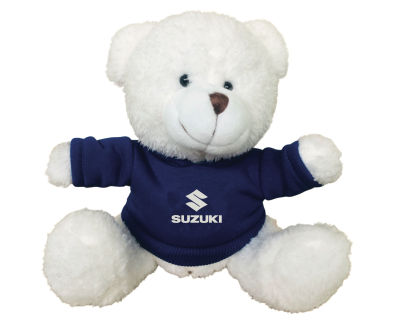 Плюшевый мишка Suzuki Plush Toy Teddy Bear, White/Blue