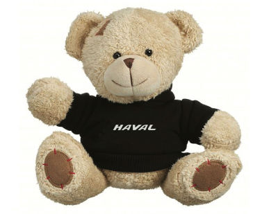 Плюшевый мишка Haval Plush Toy Teddy Bear, Beige/Black