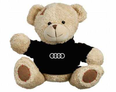 Плюшевый мишка Audi Plush Toy Teddy Bear, Beige/Black