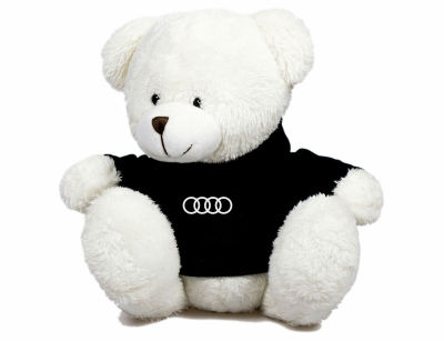 Плюшевый мишка Audi Plush Toy Teddy Bear, White/Black